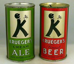 Krueger Ale and Beer Cans